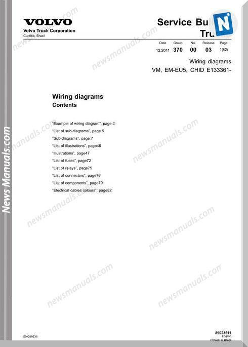 Volvo Truck Vm Em Eu5 Wiring Diagram Volvo Trucks Volvo Diagram Online