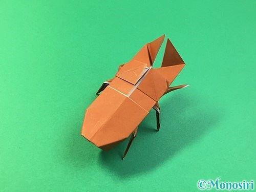 折り紙でクワガタの折り方 簡単 立体的なクワガタまで ページ 2 Monosiri クワガタ 折り紙 折り紙 折り方