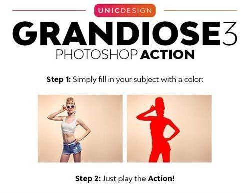 Graphicriver Grandiose 3 Animated Photoshop Action In 2020 Photoshop Actions Photoshop Grandiose