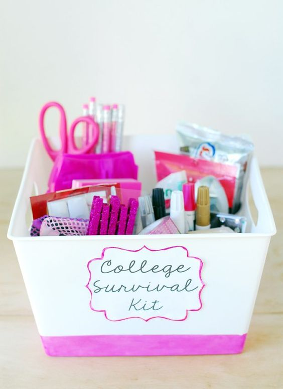 Girls college survival kit