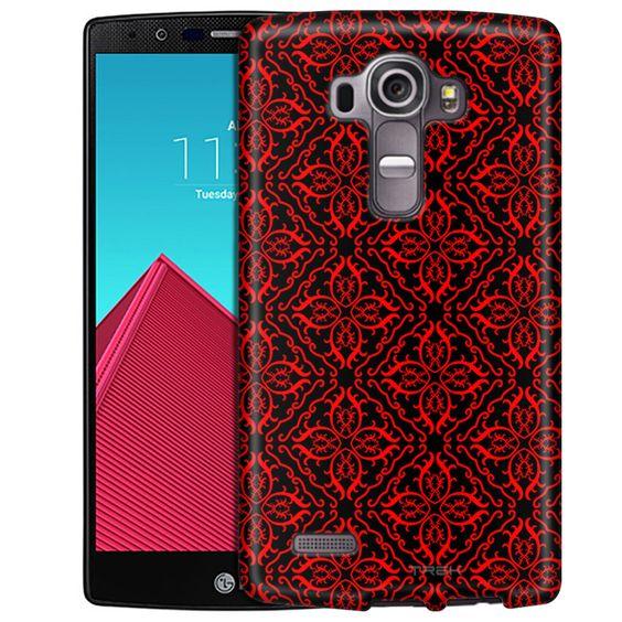 LG G4 Victorian Royalty Red on Black Slim Case