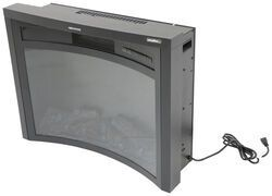 Greystone 26 Reverse Curved Electric Fireplace With Logs