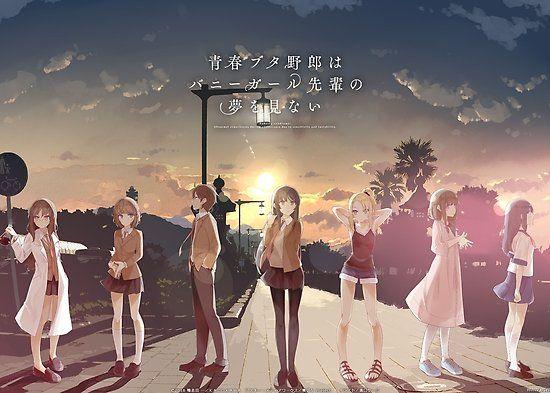 Bunny Girl Senpai - Everybody' Poster by Lawliet1568 | Bunny girl, Mai  sakurajima, Rekomendasi anime romance