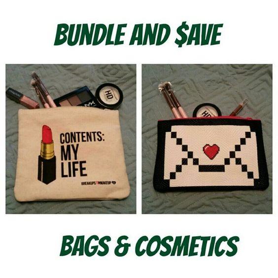 15% bundle discount Mix 'n match cosmetics and cute bags. Makeup