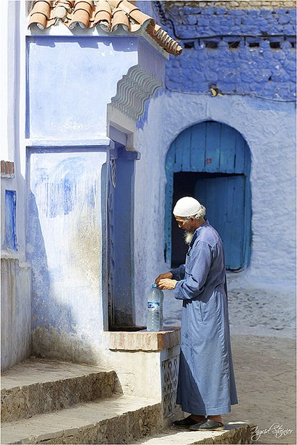 Fountain . Chaouen . Morocco: