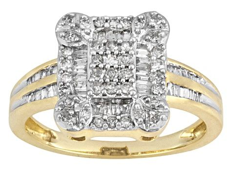 Diamond 10k Yellow Gold Ring 50ctw Mdg097 Gold Rings Yellow Gold Rings Jewelry