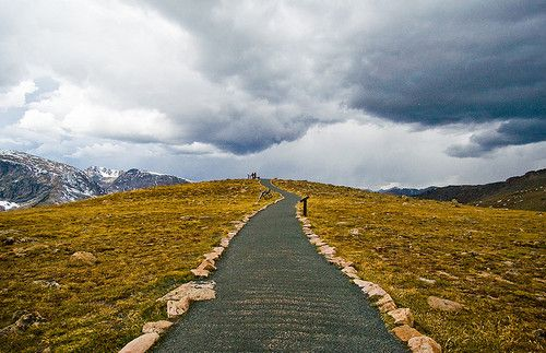 Rocky Mountain National Park    Path in the tundra, high above the treeline. The storm on the right started to snow like crazy soon after this shot. ~11,000ft   / Photo by @bryce