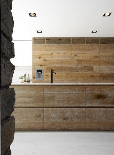 Wood Kitchen Cabinets raw wood kitchen cabinets : Smoked & Limed American Oak cabinetry by Royal Oak Floors. Robson ...