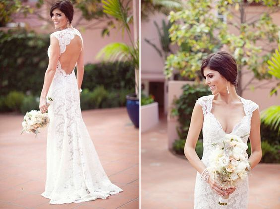 lace wedding dress - Monique Lhullier, Scarlet