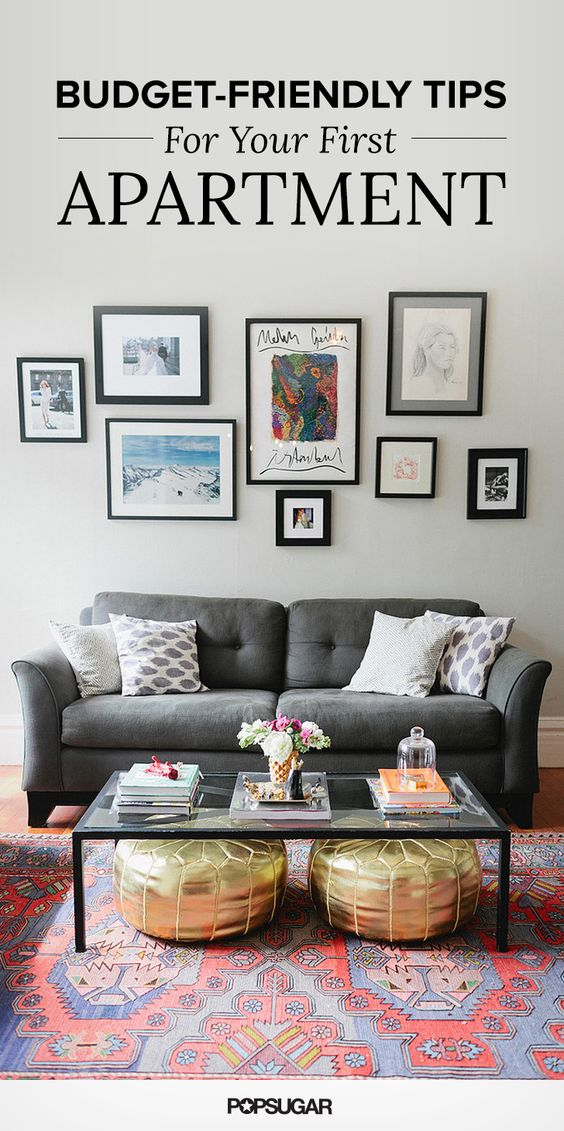 Gold Pouf Gray Sofa And First Apartment On Pinterest