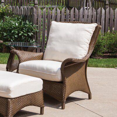 Lloyd Flanders Mandalay Tortuga Stripe Patio Chair With Cushions