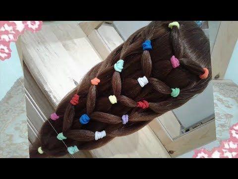 Cómo Hacer Peinados Recogidos De Colores Para Niña Con