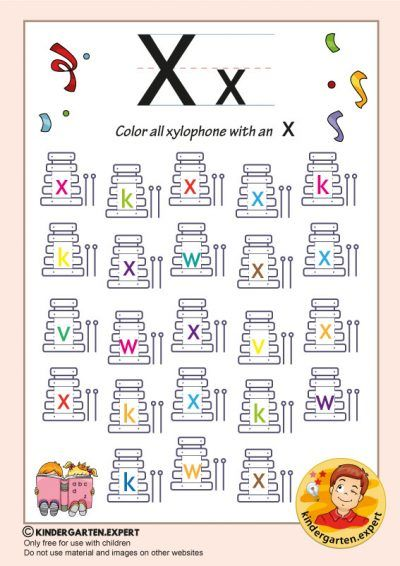 Color All The Xylophone With An X Kindergarten Expert Free Printable Alphabet Activities Preschool Alphabet Preschool Kindergarten Alphabet Letters Alphabet games for kindergarten pdf