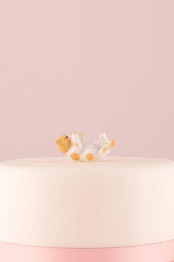 Cat Figurine Cake Topper - Orange