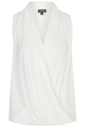 TALL Sleeveless Draped Blouse TOPSHOP