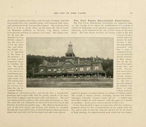 Fort Payne academy 1890