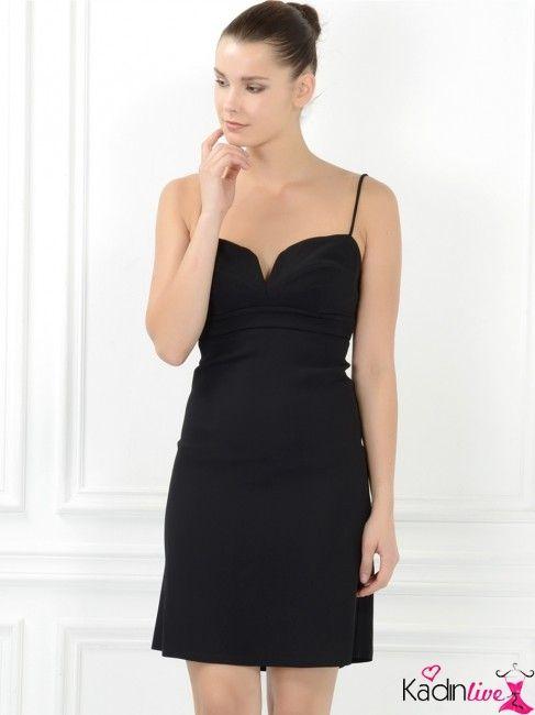 Adil Isik Ince Askili Siyah Gece Abiye Elbise Modelleri Kadinlive Com Moda Stilleri Elbise Modelleri Elbise