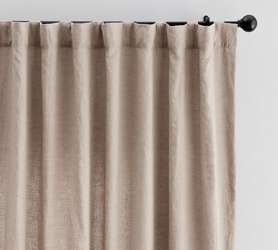 Classic Belgian Flax Linen Curtain Mocha Or Dark Flax Linen Curtains Custom Drapes Curtains