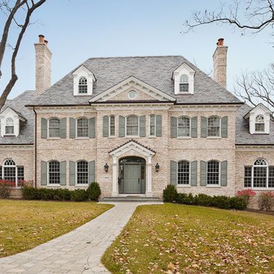 Traditional exterior brick design and bricks on pinterest for Brick georgian homes