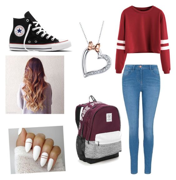 """""""Untitled #38"""" by michaelcliffordismykitten ❤ liked on Polyvore featuring George, Converse, Disney and Victoria's Secret"""