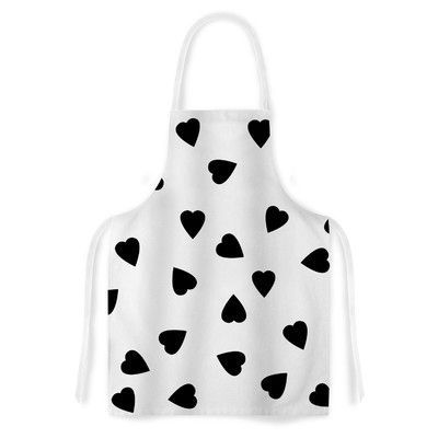 KESS InHouse Hearts by Suzanne Carter White Artistic Apron