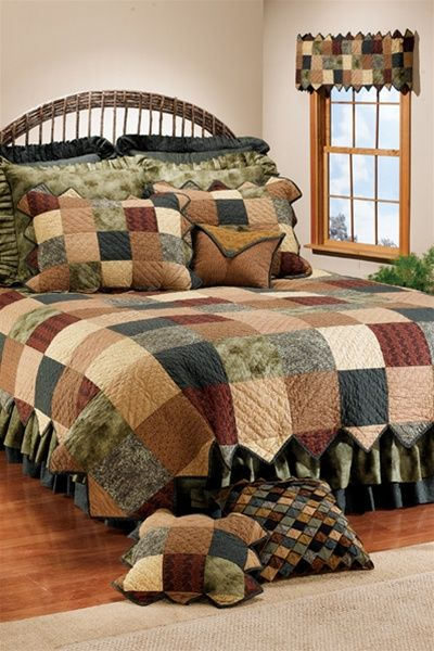 Earth Patch Quilt by Donna Sharp Quilts | Donna Sharp Quilts & Accessories | PaulsHomeFashions.com: