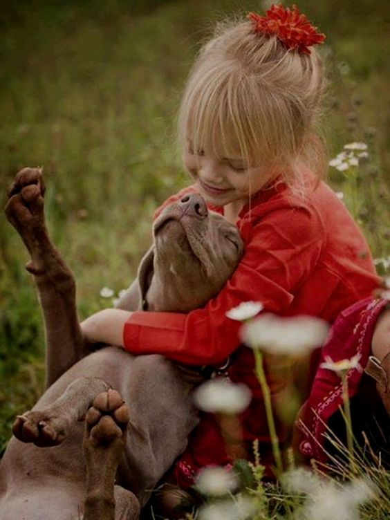 I'm not one for dogs or kids (cat & horse lady!) but this image just screams out ♥ love ♥
