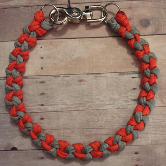 Paracord survival wallet chain weave 550 by for How to make a paracord wallet chain