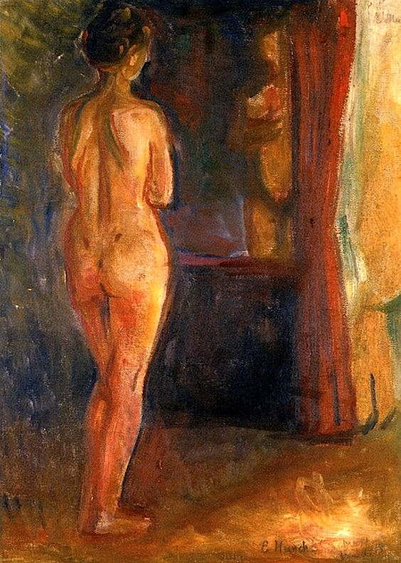 Nude in Front of the Mirror Edvard Munch - 1902
