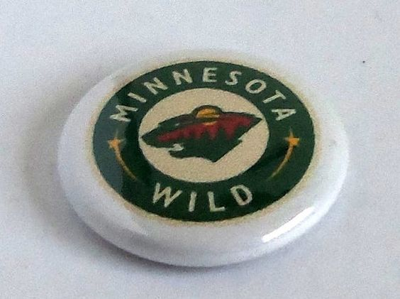 MINNESOTA WILD 1 inch Pinback Button, Magnet, or Zipper Pull (Single or Set) on Etsy, $1.25