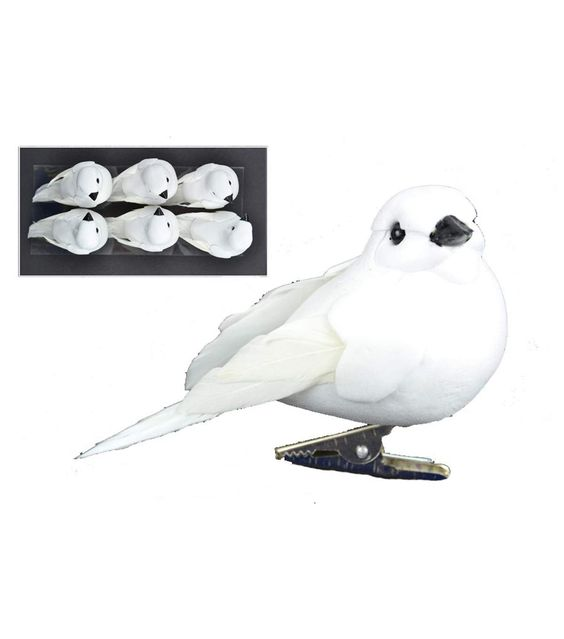Blooming Holiday 6ct Doves-White