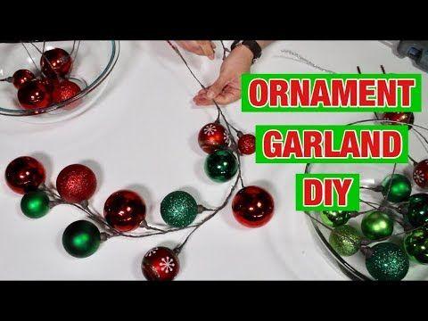 Christmas Dollar Tree Diy Making Ornament Garlands How To Christmas Tree And Wreath Decor Ornament Garland Christmas Wreaths Diy Ornament Garland Diy