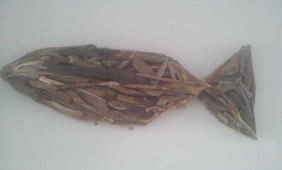 Drijfhout vis 3D