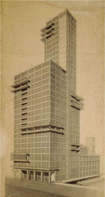 Walter Gropius and Adolf Meyer, 1922, Chicago Tribune