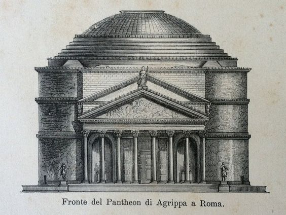 Roman Architecture Pantheon roman architecture pantheon and more - original rare antique