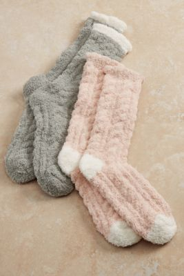 Fuzzy Socks | Cozy Cable Socks from Soft Surroundings