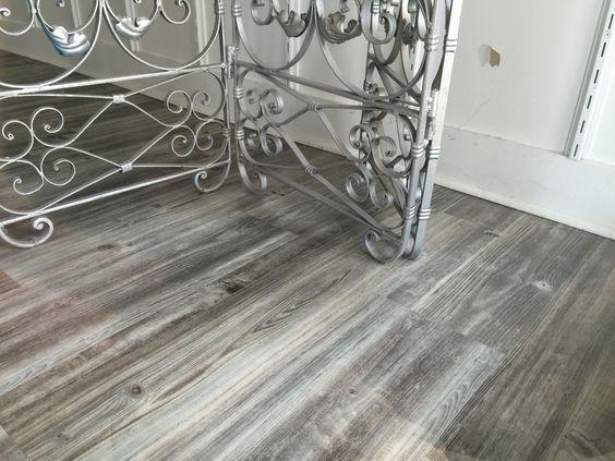 Gray wood tile