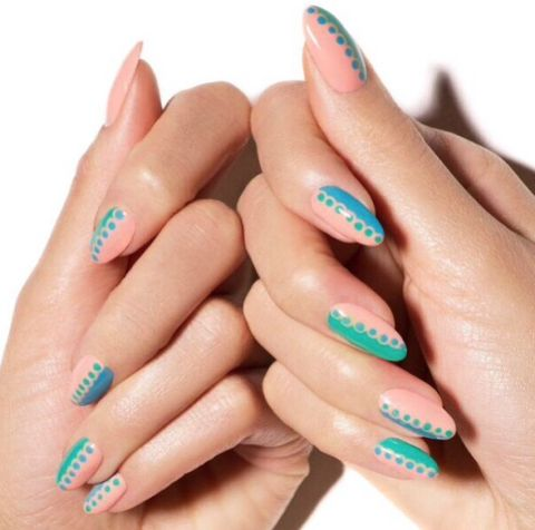 Easy Nail Art Designs-Easy Ideas for Nail Art-SUMMER LACE These nails may look complicated, but it's really simple. We swear! Visit redbookmag.com for more nail trends.