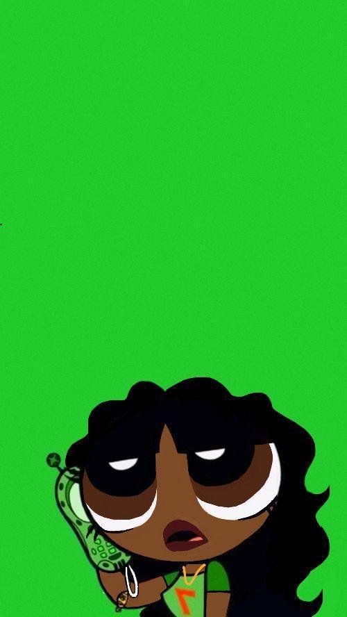 Black Girl Wallpaper Aesthetic Powerpuff Girls Buttercup In 2020 Powerpuff Girls Wallpaper Cartoon Wallpaper Cute Patterns Wallpaper