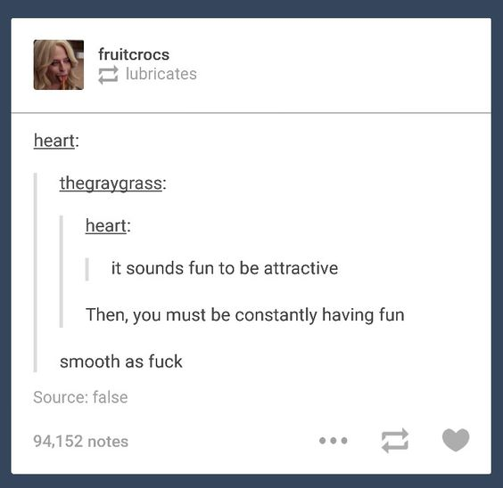 Tumblr getting real smooth
