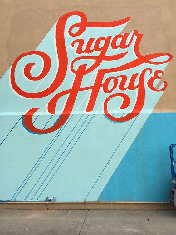 Sugarmont mural jill de haan type lettering for Mural lettering