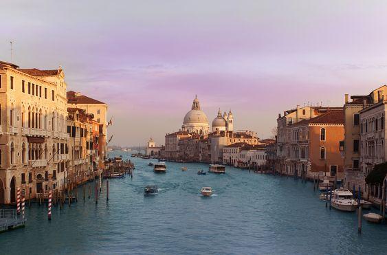 Atardecer en Venecia. Fotografía de Xiaosong Sheng