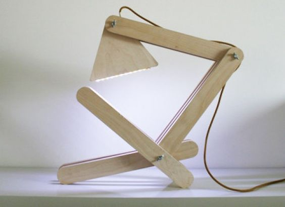 Flexible wood residue lamp made by Midas