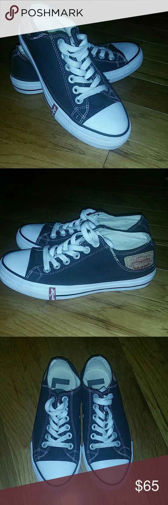 ⚡LISTING⚡Levi's Chucks Worn once...practically brand new.  Excellent condition- too small for me. Super cute converse inspired Levi's Chucks.  Make me an offer! Levi's Shoes Sneakers
