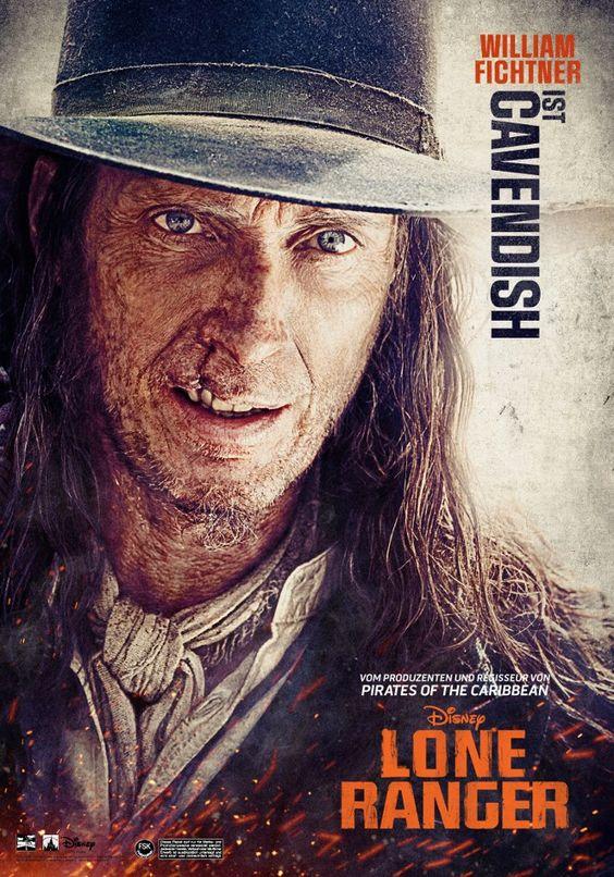 BUTCH CAVENDISH (William Fichtner): Butch Cavendish ist ein skrupelloser Bandit, dessen schreckliches Narbengesicht ein perfekter Spiegel des tiefen Abgrunds ist, der für seine Seele gehalten wird.   #LoneRanger ©Disney