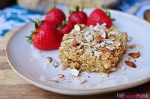Coconut Almond Baked Oatmeal | FaveHealthyRecipes.com