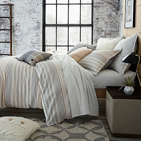 Ugg Reg Lunar Stripe Cotton Flannel Duvet Cover Flannel Duvet