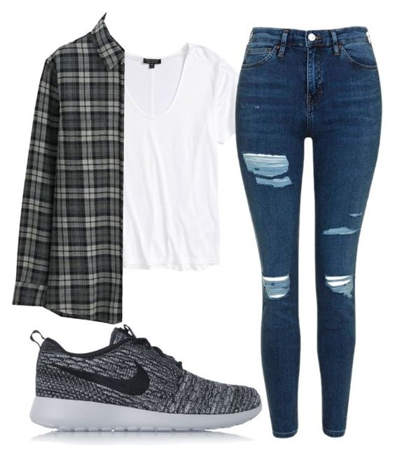 """""""Untitled #46"""" by exc4libur on Polyvore featuring Topshop, Uniqlo and NIKE"""