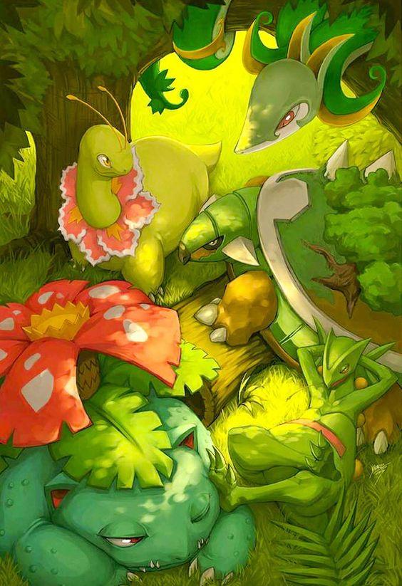 Grass Starter Pokemon Wallpaper Grass Pokemon Starters...