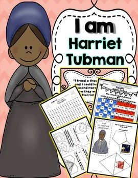 Harriet Tubman ~ Mini Unit, Lapbook, Crafts, Writing, and More! Black History Month